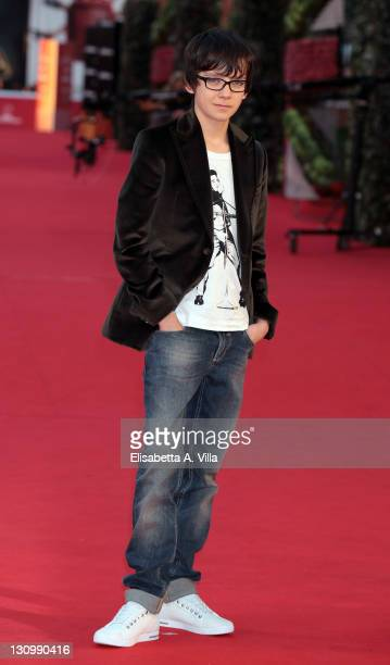 Actor Asa Butterfield attends 'Hugo Cabret' And 'Week End' premiere during the 6th International Rome Film Festival at Auditorium Parco Della Musica...
