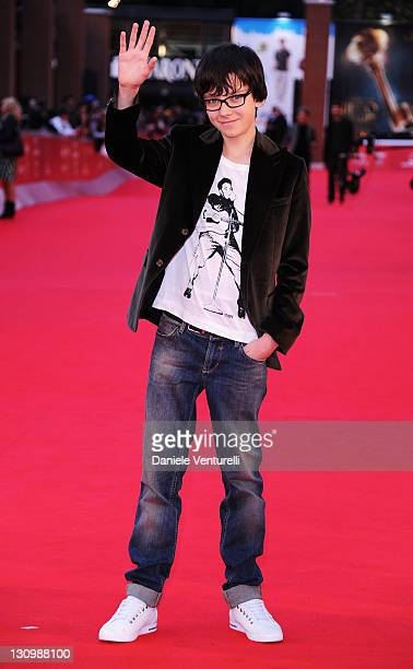 Actor Asa Butterfield attends the 'Hugo Cabret' Premiere during the 6th International Rome Film Festival at Auditorium Parco Della Musica on October...
