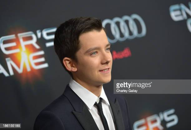 Actor Asa Butterfield attends the premiere of Ender's Game presented by Audi at TCL Chinese Theatre on October 28 2013 in Hollywood California
