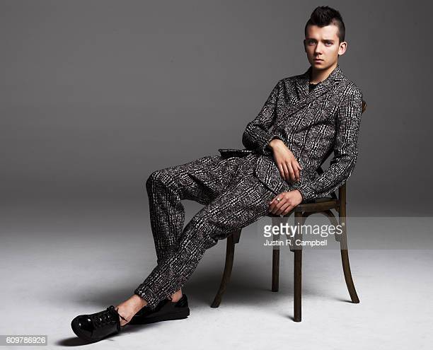 Actor Asa Butterfield is photographed for Just Jared on August 17 2016 in Los Angeles California