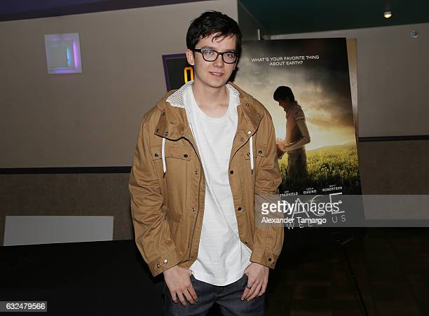 Actor Asa Butterfield is seen at AMC Unset Place during 'THE SPACE BETWEEN US' Screening QA on January 22 2017 in Miami Florida