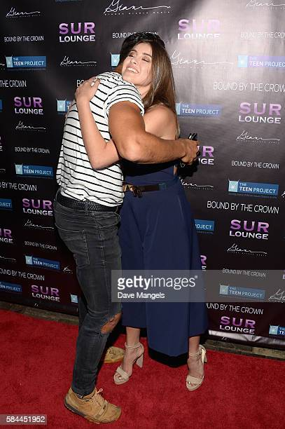 Actor Asaf Goren and dancer Kalani Hilliker attend Teen Project LA's 2016 Teen Dream at Sur Restaurant on July 28 2016 in Los Angeles California