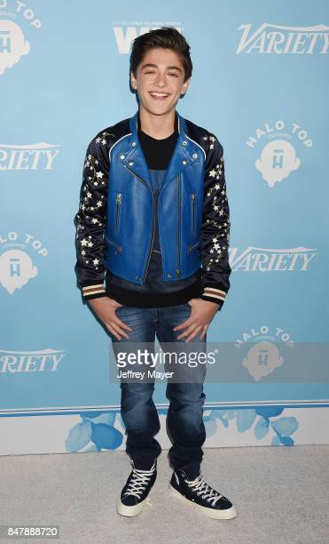 Actor Asher Angel arrives at the Variety And Women In Film's 2017 PreEmmy Celebration at Gracias Madre on September 15 2017 in West Hollywood...