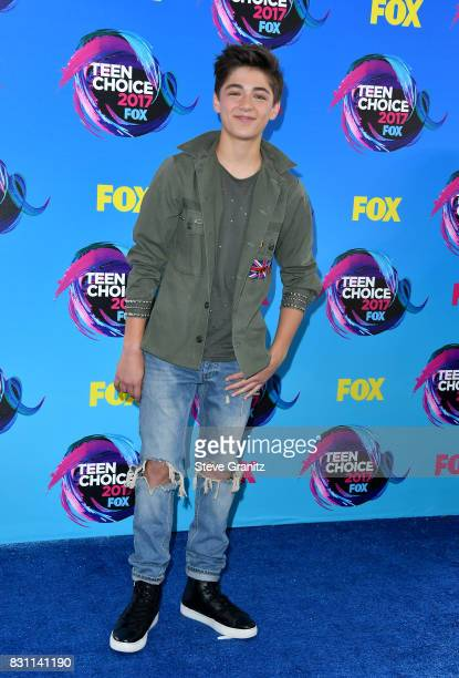 Actor Asher Angel attends the Teen Choice Awards 2017 at Galen Center on August 13 2017 in Los Angeles California