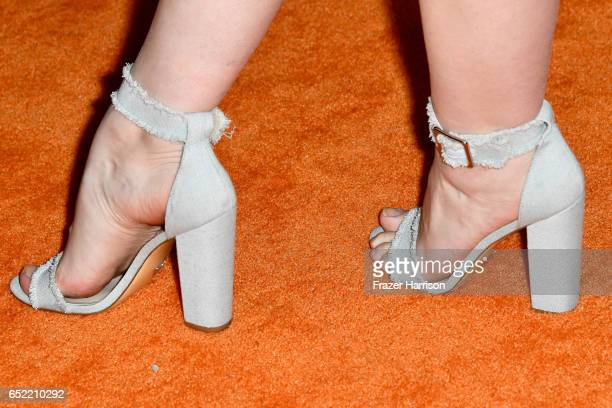 Actor Ashleigh Ross shoe detail at Nickelodeon's 2017 Kids' Choice Awards at USC Galen Center on March 11 2017 in Los Angeles California