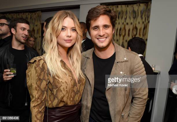 Actor Ashley Benson and singer Diego Boneta attend the Prive Eyewear Launch Party at Chateau Marmont on June 1 2017 in Los Angeles California