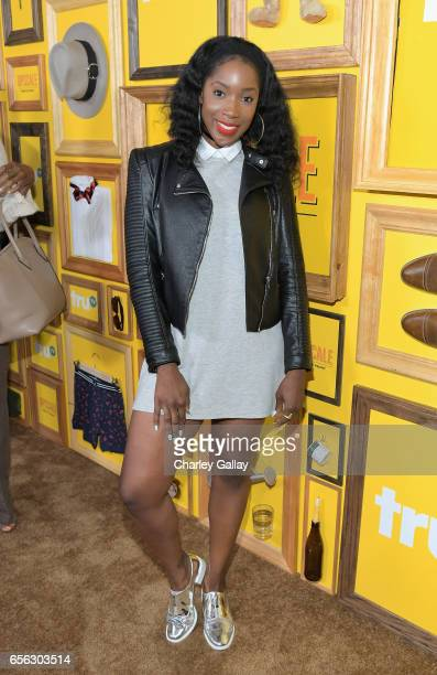 Actor Ashley Blaine Featherson at truTV's 'Upscale with Prentice Penny' Premiere at The London Hotel on March 21 2017 in West Hollywood California...