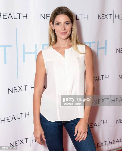 Actor Ashley Greene attends the Next Health Grand Opening at the Westfield Century City on June 6 2018 in Los Angeles California