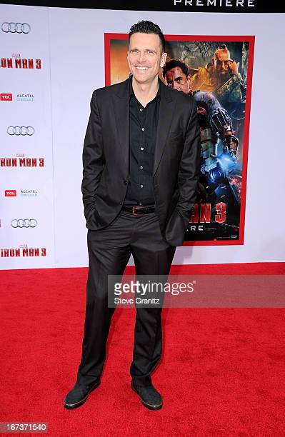 Actor Ashley Hamilton arrives at the Iron Man 3 Los Angeles premiere at the El Capitan Theatre on April 24 2013 in Hollywood California