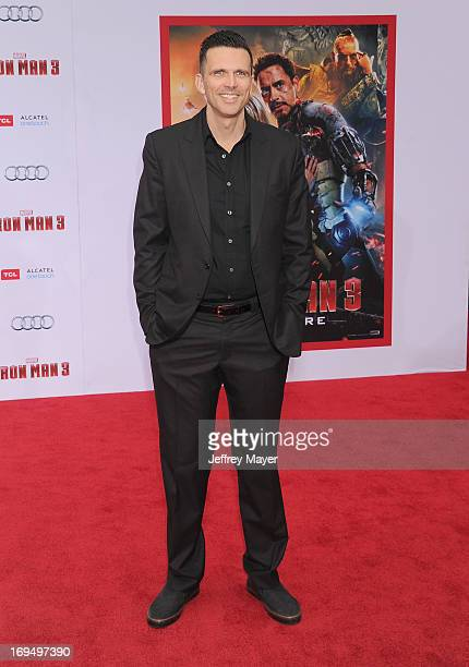 Actor Ashley Hamilton arrives at the Los Angeles Premiere of Iron Man 3 at the El Capitan Theatre on April 24 2013 in Hollywood California