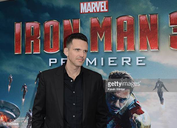 Actor Ashley Hamilton arrives at the premiere of Walt Disney Pictures' Iron Man 3 at the El Capitan Theatre on April 24 2013 in Hollywood California