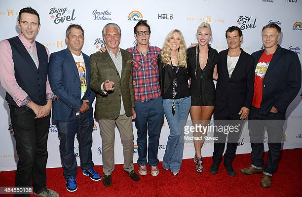 Actor Ashley Hamilton producer Jeff Tremaine actor George Hamilton actor Johnny Knoxville actress Alana Stewart Maty Noyes BMX rider Mat Hoffman and...