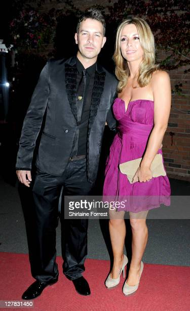 Actor Ashley Taylor Dawson and girlfriend Karen McKay attend the Hollyoaks Charity Ball at Chester Racecourse on October 1 2011 in Chester England