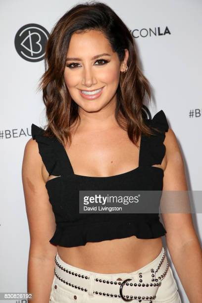 Actor Ashley Tisdale attends Day 1 of the 5th Annual Beautycon Festival Los Angeles at the Los Angeles Convention Center on August 12 2017 in Los...