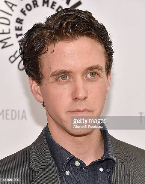 Actor Ashley Zuckerman attends The Paley Center For Media Presents An Evening With WGN America's 'Manhattan' at The Paley Center for Media on July 9...