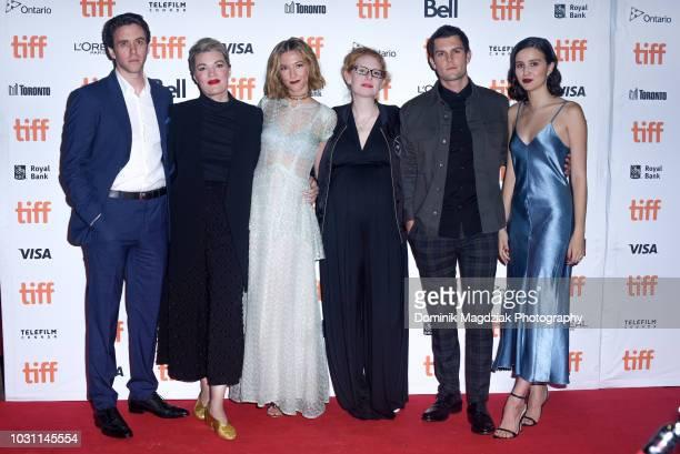 Actor Ashley Zukerman director Emma Tammi actress Caitlin Gerard screenwriter Teresa Sutherland actor Dylan McTee and actress Julia Goldani Telles...