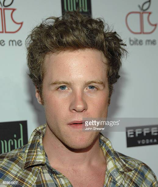 Actor Ashton Holmes arrives to the Apple Lounge grand opening at Apple Lounge on August 14 2008 in West Hollywood California