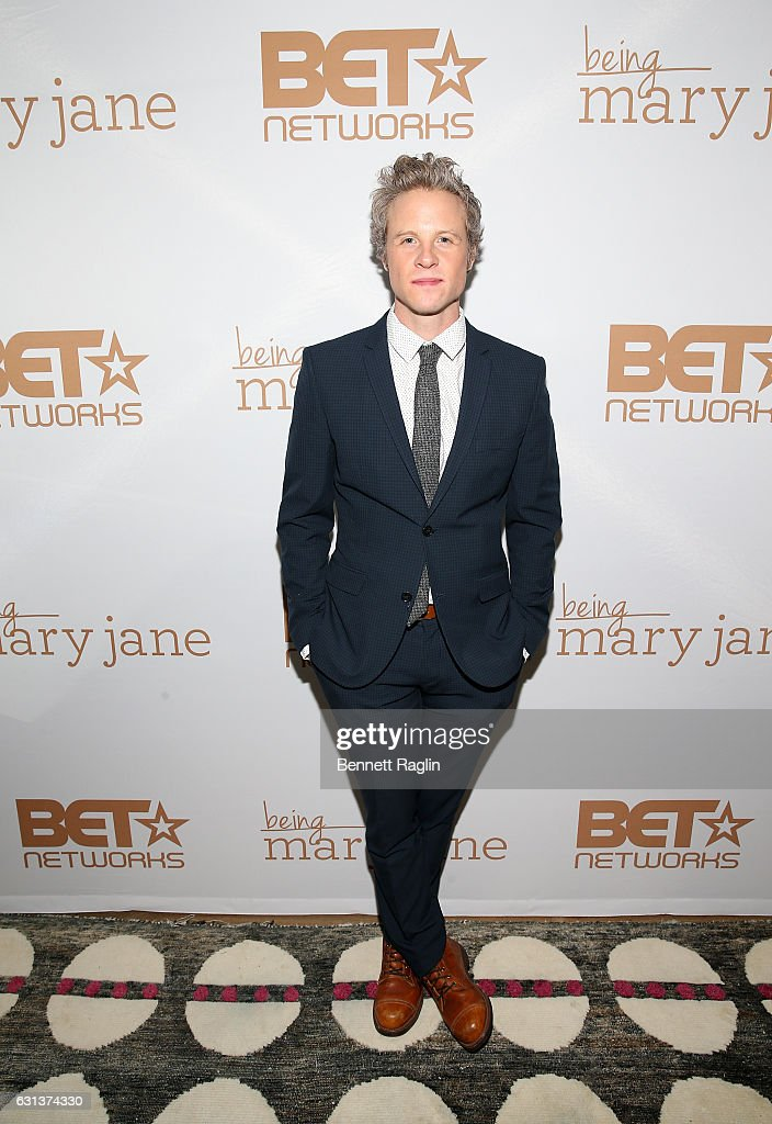 Actor Ashton Holmes attends the Being Mary Jane premiere, screening, and party on January 9, 2017 in New York City.