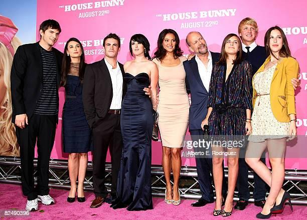 Actor Ashton Kutcher actress Demi Moore actor Micah Alberti actress Rumer Willis Emma Heming actor Bruce Willis Scout Willis and Tallulah Willis...