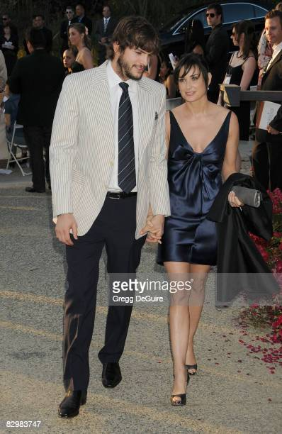 Actor Ashton Kutcher and actress Demi Moore arrive at 7th Annual Chrysalis Butterfly Ball on May 31 2008 at a Private Residence in Los Angeles...