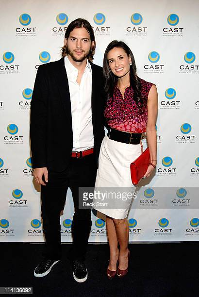 Actor Ashton Kutcher and actress Demi Moore arrive at The Coalition To Abolish Slavery Trafficking's The 13th Annual 'From Slavery To Freedom' Gala...