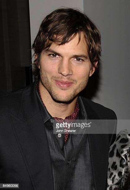 Actor Ashton Kutcher arrives at the Bally and Vanity Fair Hollywood Domino Game Night benefiting The Art of Elysium held at Andaz on February 20 2009...