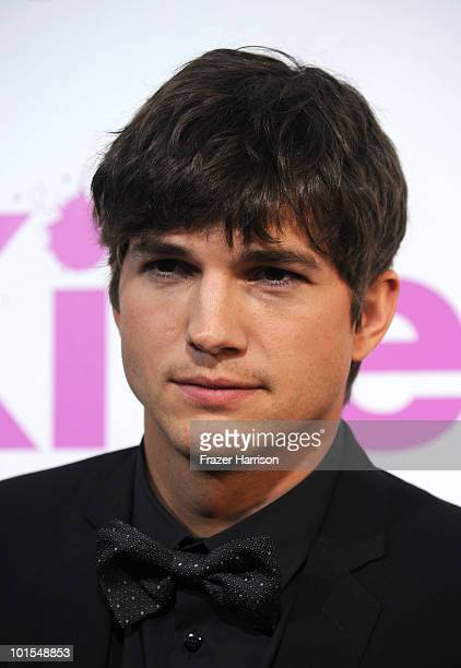 Actor Ashton Kutcher arrives to the premiere of Lionsgate's 'Killers' held at ArcLight Cinema's Cinerama Dome on June 1 2010 in Hollywood California