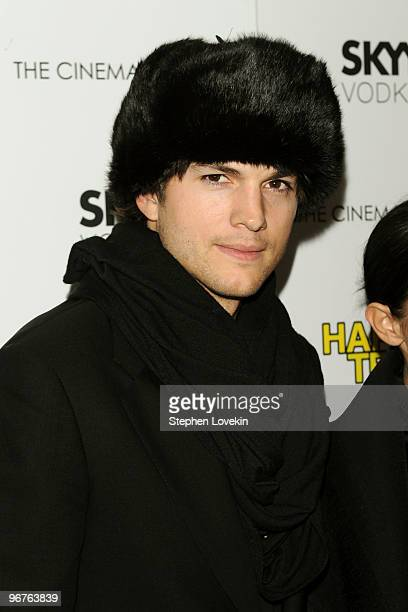 Actor Ashton Kutcher attends a screening of Happy Tears hosted by the Cinema Society and Donna Karan at The Museum of Modern Art on February 16 2010...