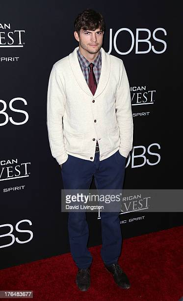 """Actor Ashton Kutcher attends a screening of Open Road Films and Five Star Feature Films' """"Jobs"""" at Regal Cinemas L.A. Live on August 13, 2013 in Los..."""
