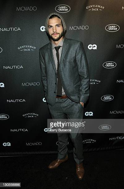 Actor Ashton Kutcher attends GQ's Gentlemen's Ball Presented By Gentleman Jack Land Rover Movado and Nautica at The Edison Ballroom on October 26...