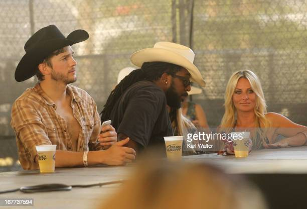 Actor Ashton Kutcher attends the 2013 Stagecoach: California's Country Music Festival held at The Empire Polo Club on April 28, 2013 in Indio,...