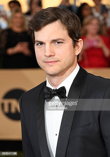 Actor Ashton Kutcher attends The 23rd Annual Screen Actors Guild Awards at The Shrine Auditorium on January 29 2017 in Los Angeles California...