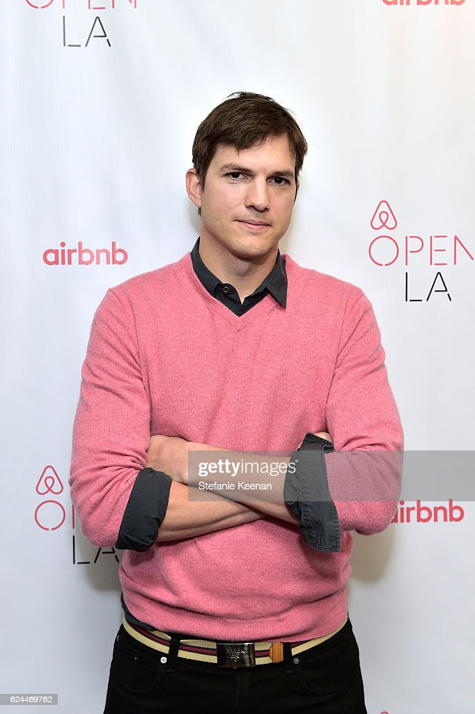 Actor Ashton Kutcher attends The Game Plan: Strategies for Entrepreneurs at The Orpheum Theatre during Airbnb Open - Day 3 on November 19, 2016 in Los Angeles, California.