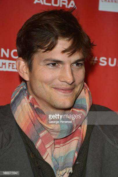 """Actor Ashton Kutcher attends the """"jOBS"""" Premiere during the 2013 Sundance Film Festival at Eccles Center Theatre on January 25, 2013 in Park City,..."""
