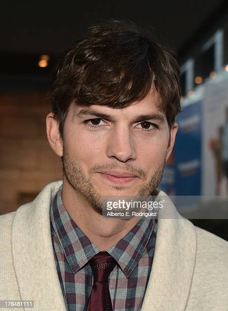 """Actor Ashton Kutcher attends the screening of Open Road Films and Five Star Feature Films' """"Jobs"""" at Regal Cinemas L.A. Live on August 13, 2013 in..."""
