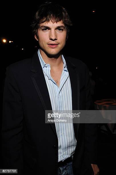 Actor Ashton Kutcher attends the TechCrunch 50 Conference 2008 VIP dinner party at the San Francisco Design Center on September 8, 2008 in San...