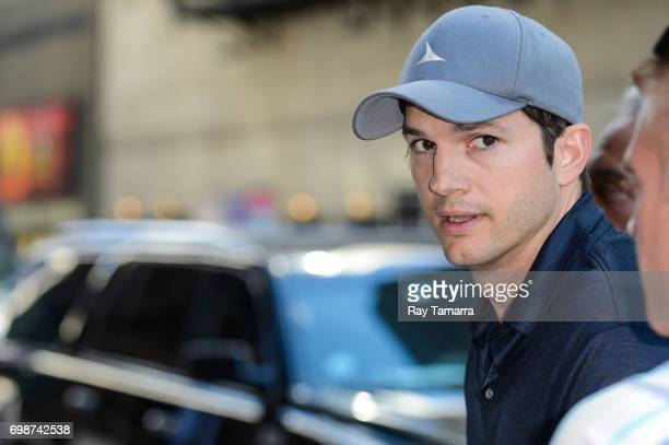 Actor Ashton Kutcher enters the 'The Late Show With Stephen Colbert' taping at the Ed Sullivan Theater on June 20 2017 in New York City