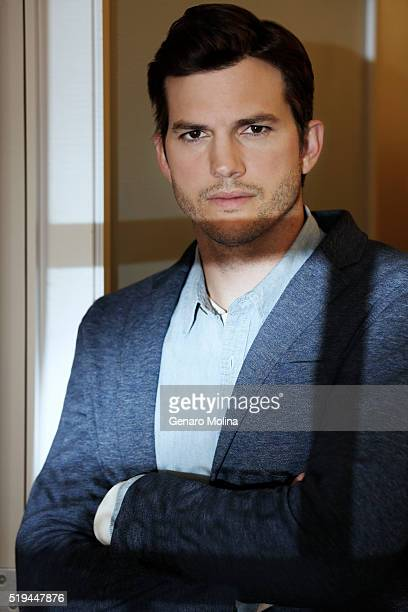Actor Ashton Kutcher from the new Netflix series 'The Ranch' is photographed for Los Angeles Times on March 22 2016 in Los Angeles California...