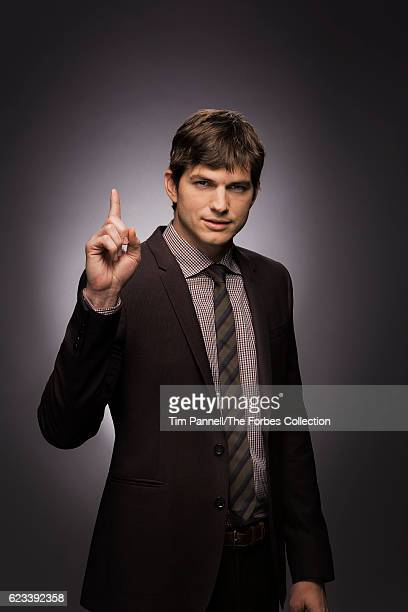 Actor Ashton Kutcher is photographed for Forbes Magazine on March 1 2016 in Los Angeles California COVER IMAGE CREDIT MUST READ Tim Pannell/The...