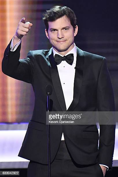 Actor Ashton Kutcher speaks onstage during the 23rd Annual Screen Actors Guild Awards at The Shrine Expo Hall on January 29 2017 in Los Angeles...