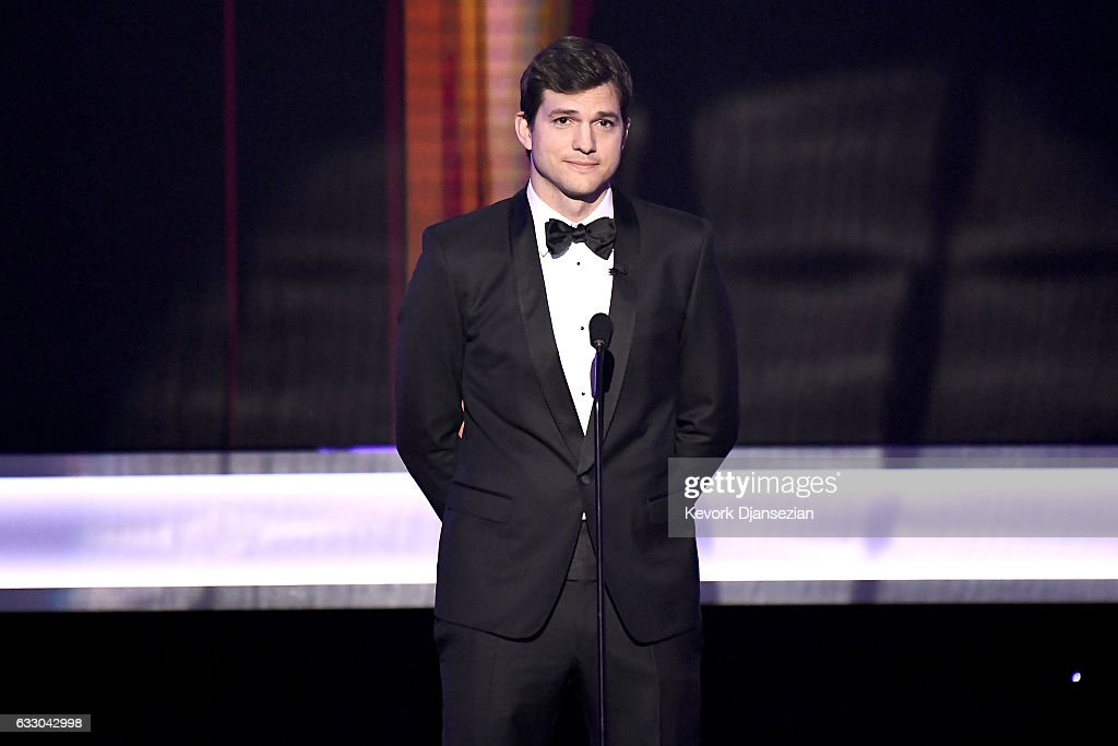 Actor Ashton Kutcher speaks onstage during the 23rd Annual Screen Actors Guild Awards at The Shrine Expo Hall on January 29, 2017 in Los Angeles, California.