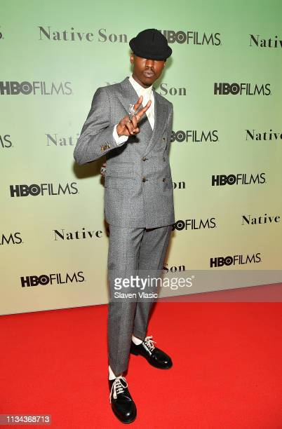 Actor Ashton Sanders attends HBO's Native Son screening at Guggenheim Museum on April 1 2019 in New York City