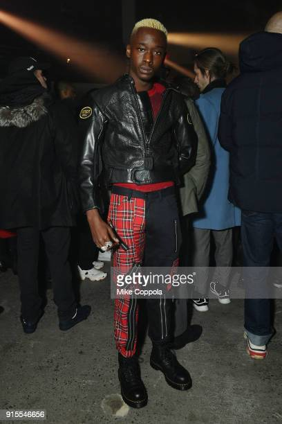 Actor Ashton Sanders attends the Raf Simons runway show during New York Fashion Week Mens' on February 7 2018 in New York City