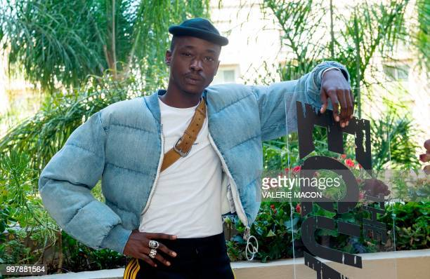 Actor Ashton Sanders poses during the 'Equalizer 2' photo call on July 13 in Beverly Hills California