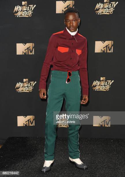 Actor Ashton Sanders poses in the press room at the 2017 MTV Movie and TV Awards at The Shrine Auditorium on May 7 2017 in Los Angeles California