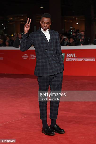 Actor Ashton Sanders walks a red carpet for 'Moonlight' on October 13 2016 in Rome Italy