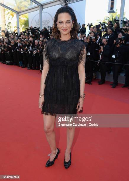 Actor Asia Argento attends the 'Ismael's Ghosts ' screening and Opening Gala during the 70th annual Cannes Film Festival at Palais des Festivals on...