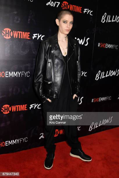 Actor Asia Kate Dillon attends the SHOWTIMEpresented screening panel discussion and reception for episode 211 of the hit series BILLIONS held at the...