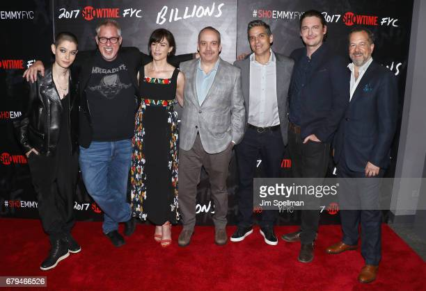 Actor Asia Kate Dillon executive producer Brian Koppelman actors Maggie Siff Paul Giamatti executive producers David Levien actor Toby Leonard Moore...