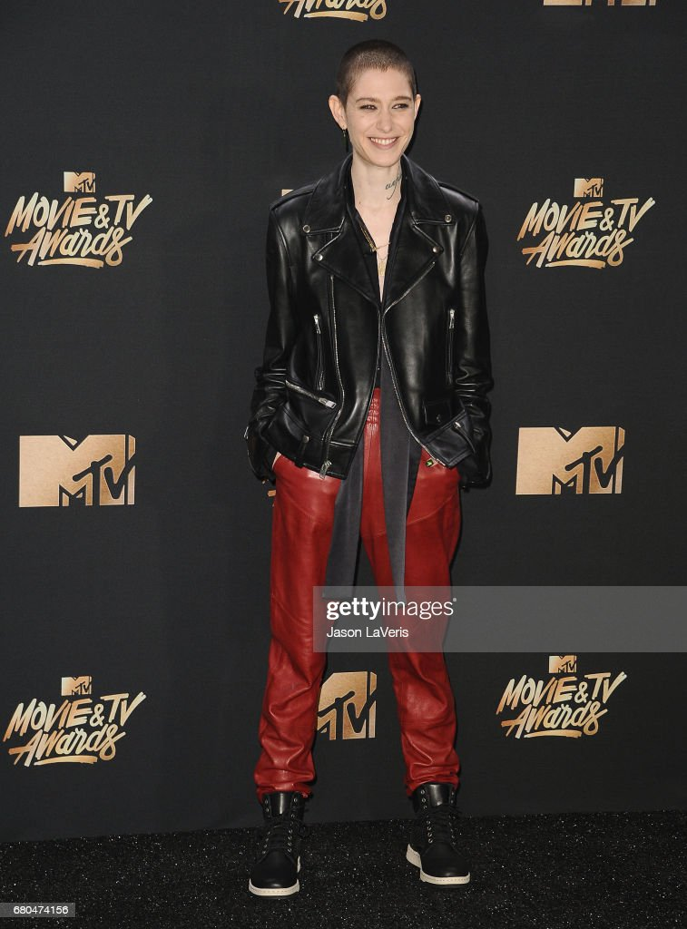 Actress Asia Kate Dillon poses in the press room at the 2017 MTV Movie and TV Awards at The Shrine Auditorium on May 7, 2017 in Los Angeles, California.